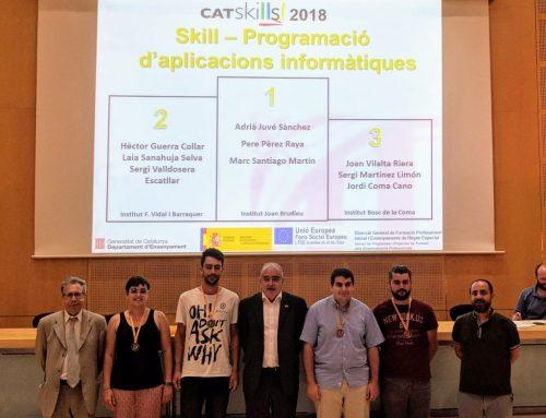 Tres alumnes dels cicles formatius d'informàtica reben la medalla de bronze en els Campionats d'FP de Catalunya