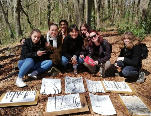 Creació artística amb les alumnes franceses