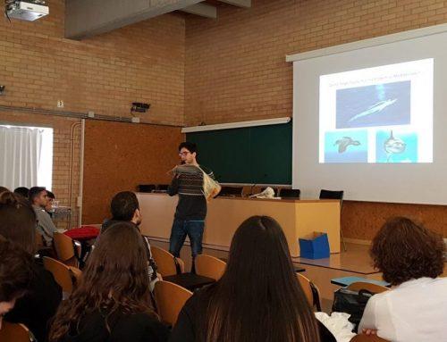 Odei García Garín ens va sorprendre amb dues xerrades sobre l'impacte ambiental que produeixen els plàstics als ecosistemes marins