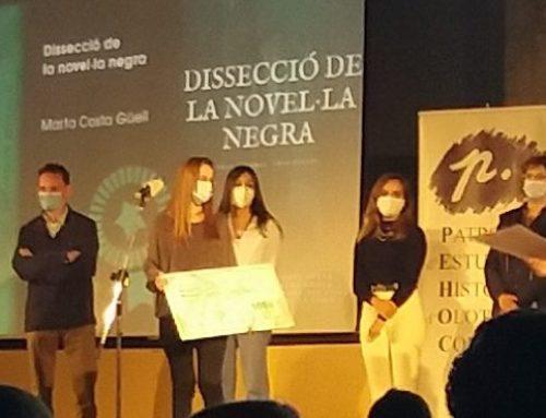 1r premi en la modalitat d'Humanitats per a Marta Costa.  XX Premis Salvador Reixach per a treballs de recerca.