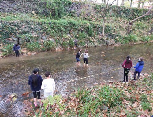 Els alumnes de 1r d'ESO van fer la inspecció de tardor del Projecte Rius al riu Fluvià