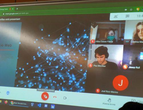 La Cristina Martín, en Pau Morillas i en Joel Costa ens expliquen la seva experiència a l'empresa Energy Tools.